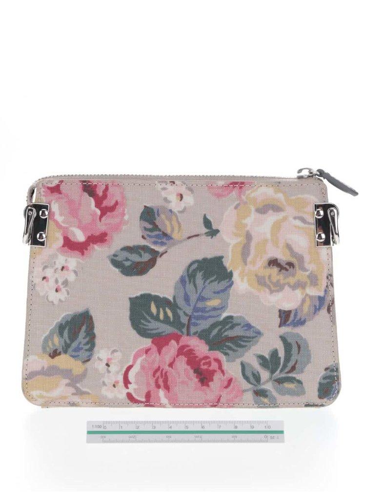Šedá malá květovaná kabelka Cath Kidston