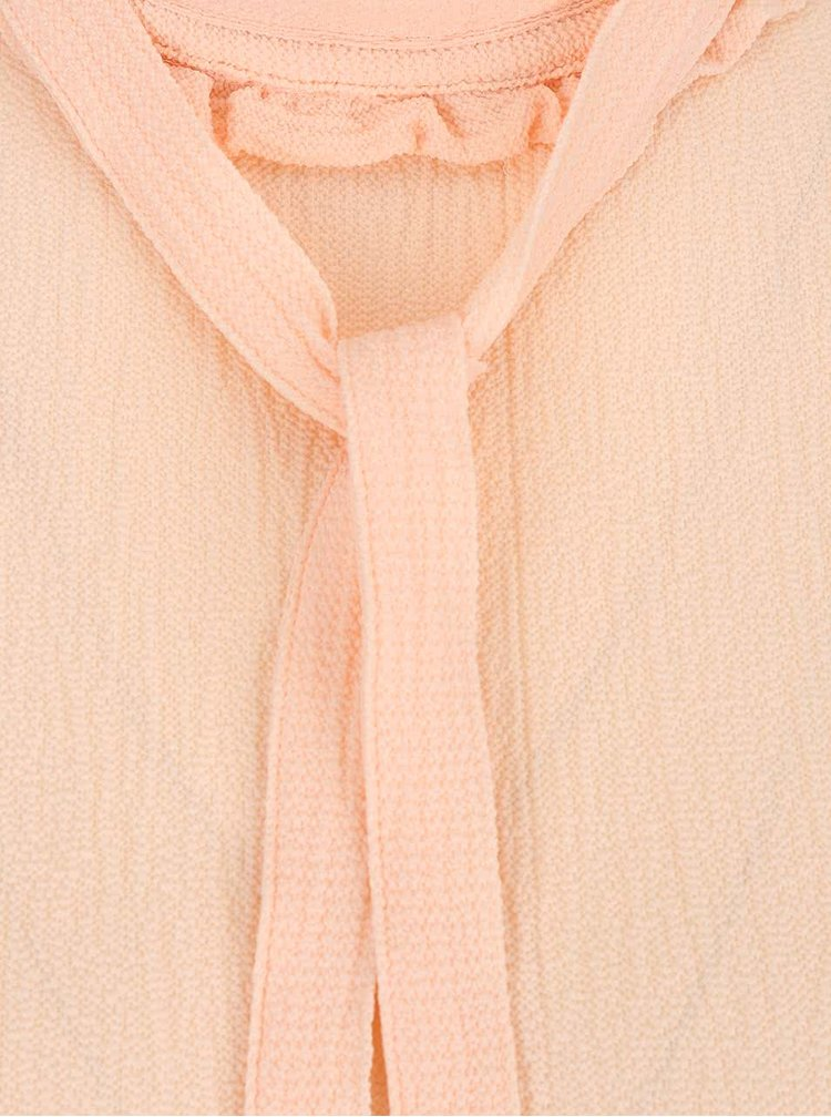 Marhuľová blúzka s kravatou VERO MODA Greta
