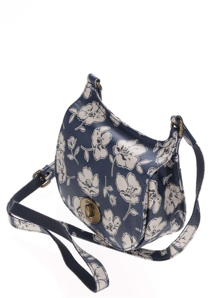 Tmavomodrá crossbody kabelka s kvetinovým motívom Cath Kidston