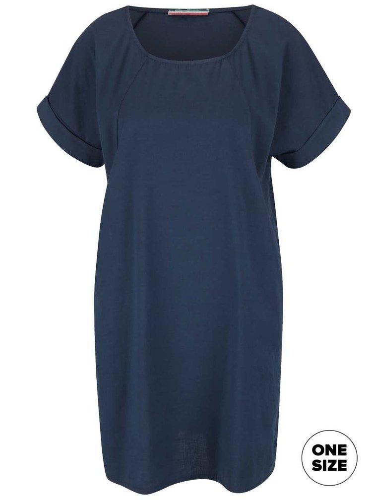 Tmavě modré šaty s krátkým rukávem ZOOT Simple