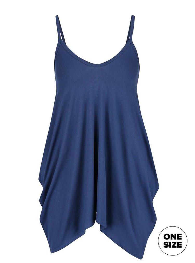 Top albastru ZOOT simple cu bretele subțiri