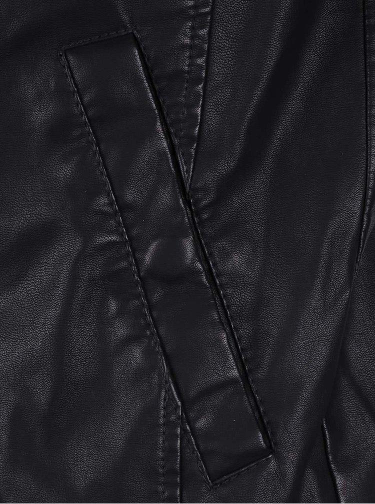 Čierna koženková bunda Jack & Jones Original
