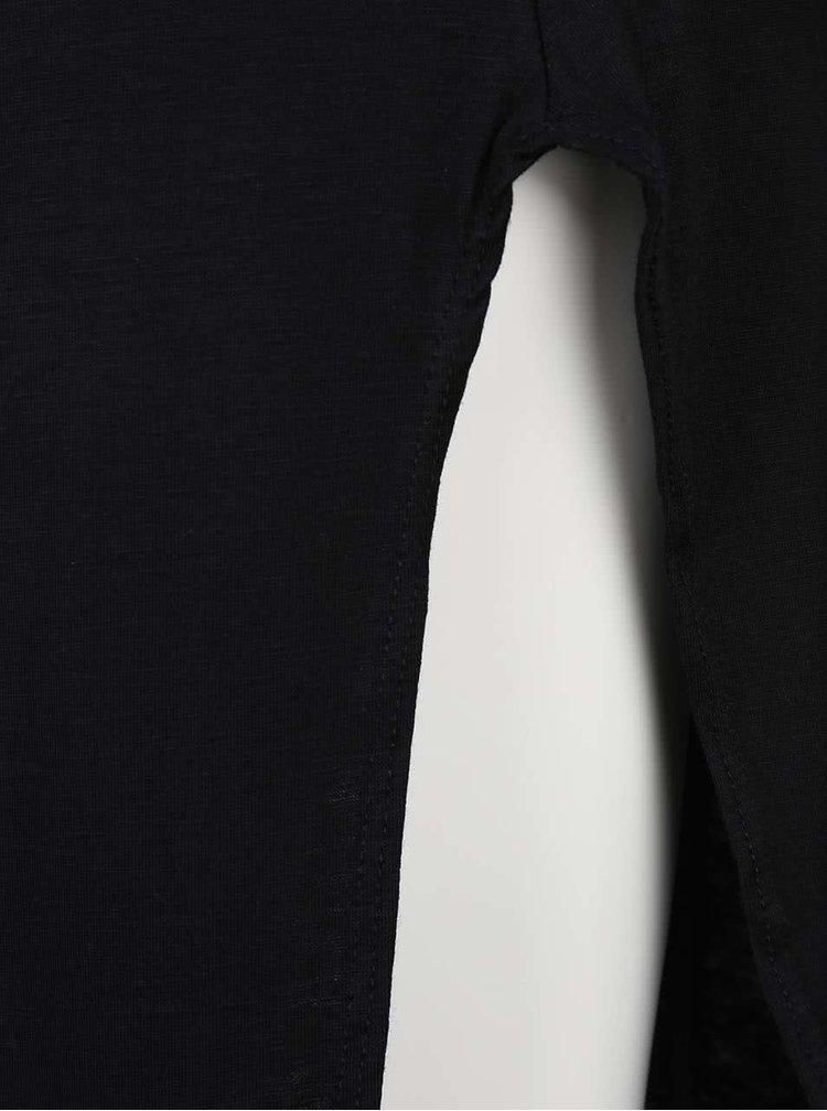 Černé šaty s krátkým rukávem Madonna