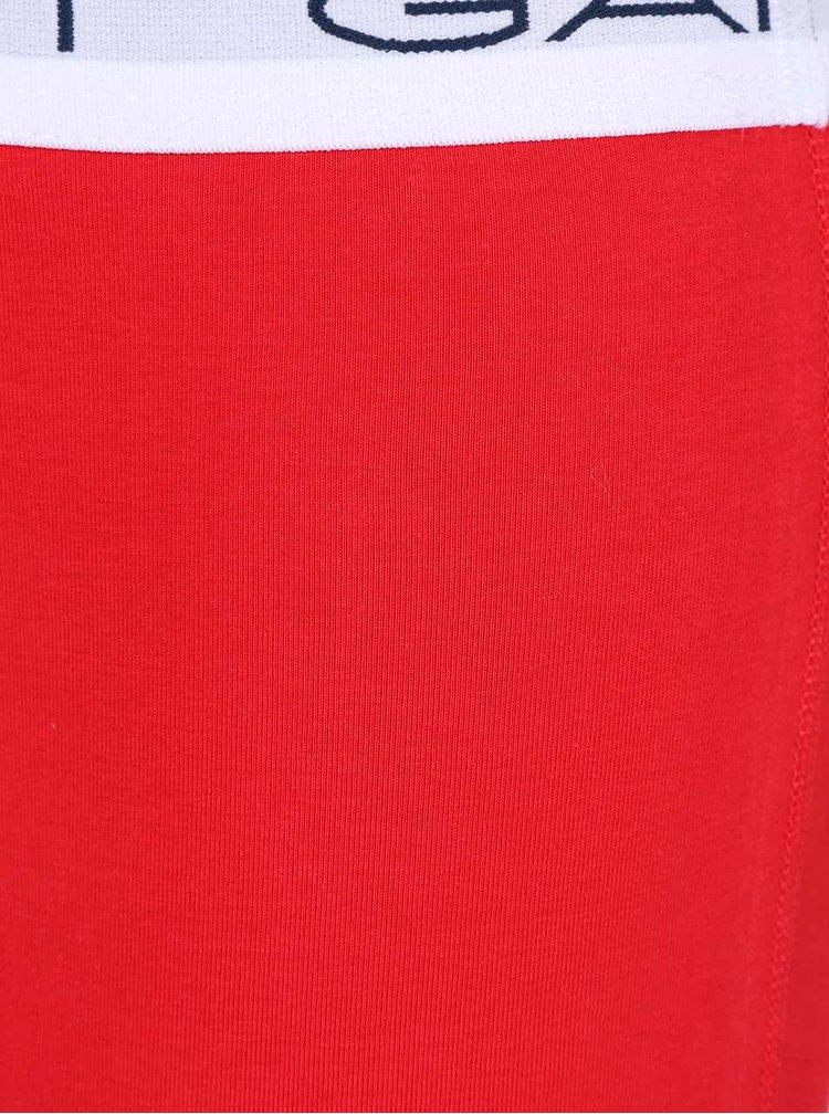 Sada tří boxerek v bílé, červené a modré barvě GANT