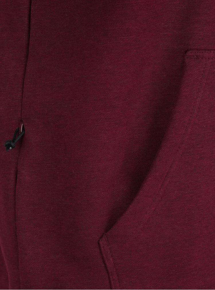 Vínová pánska mikina s kapucňou adidas Originals PT