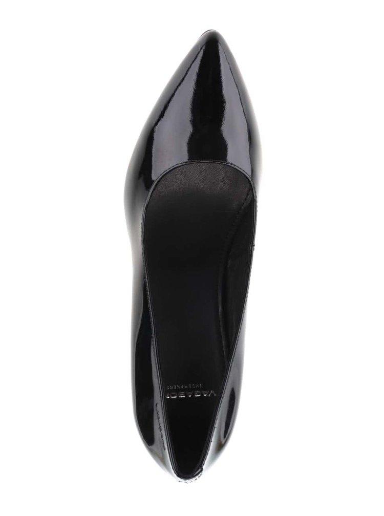 Černé kožené lesklé lodičky Vagabond Esther