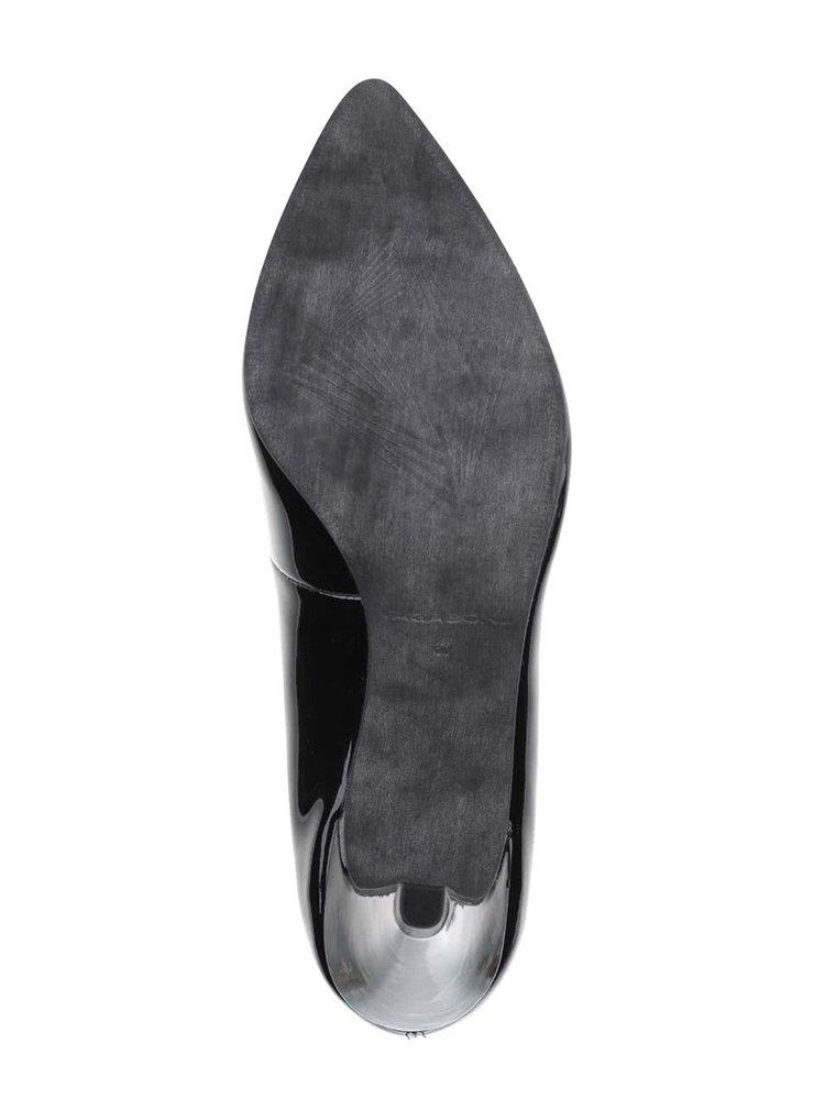 Pantofi negri cu toc Vagabond Esther din piele lacuita