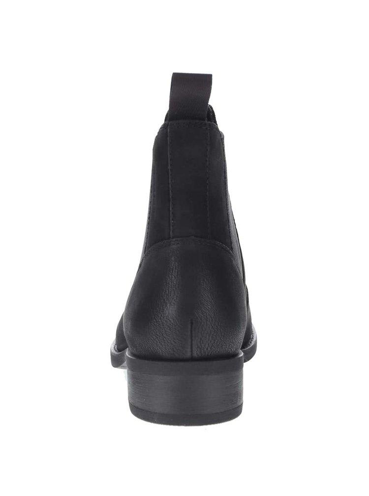 Černé dámské kožené chelsea boty na mírném podpatku Vagabond Cary