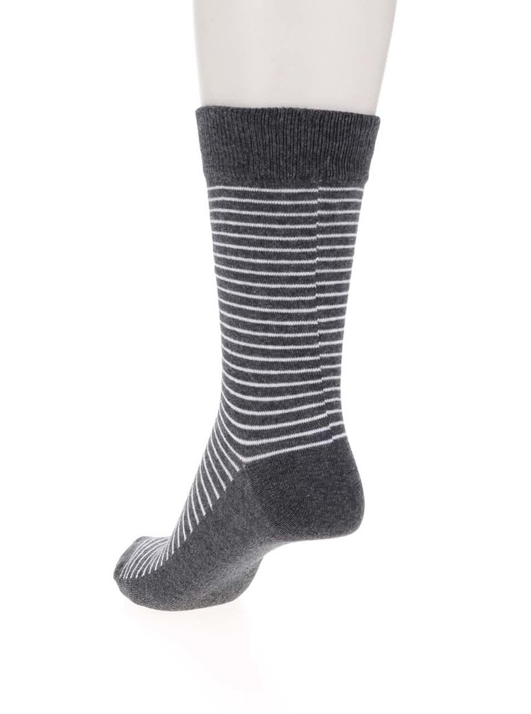 Ciorapi gri Jack & Jones Digger cu model în dungi