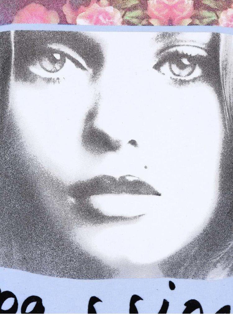 Světle modré tílko s potiskem Madonna