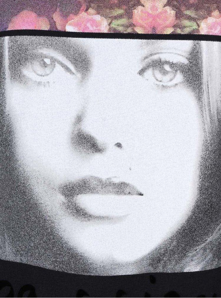 Černé tílko s potiskem Madonna
