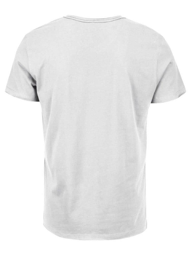 Tricou crem cu print Blend din bumbac