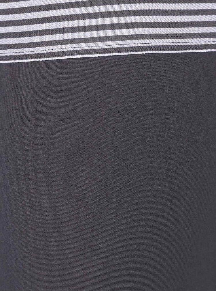Šedé kratší boxerky s ozdobným pasem Calvin Klein