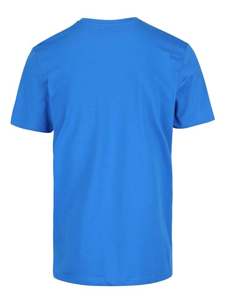 Modré pánske tričko s farebnou potlačou adidas Originals Color