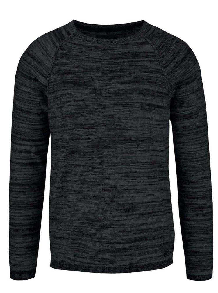 Čierny melírovaný ľahký sveter Blend
