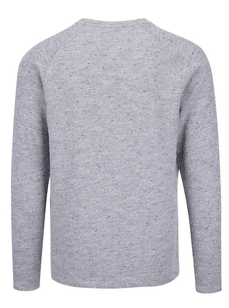 Svetlosivý melírovaný sveter Jack & Jones Main