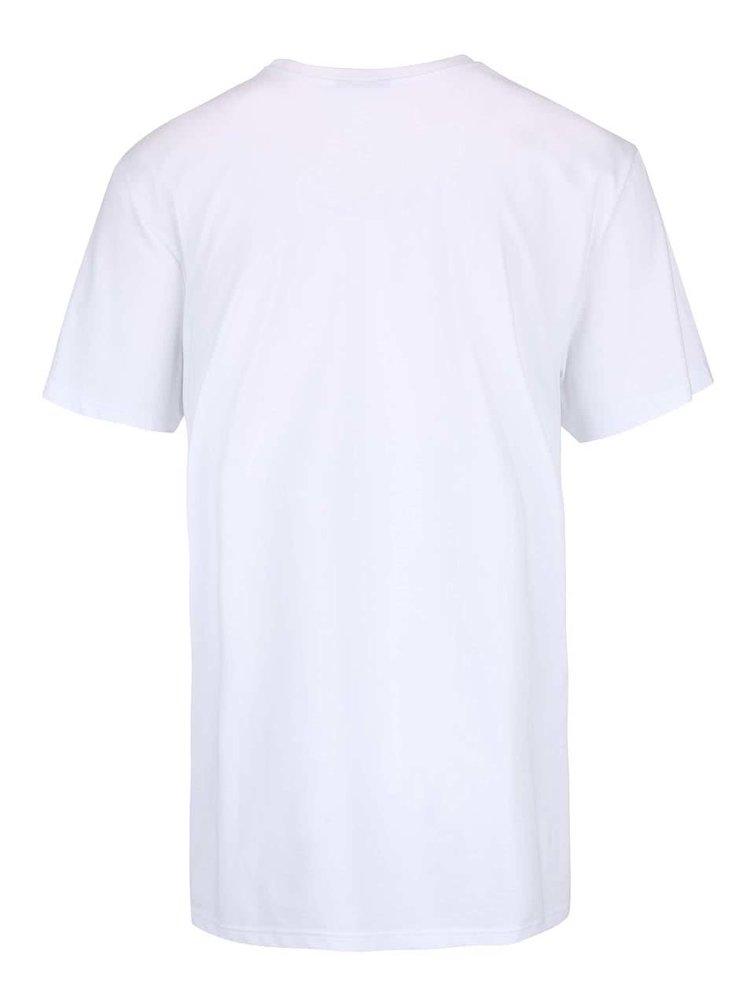 Biele pánske tričko s potlačou adidas Originals Camo