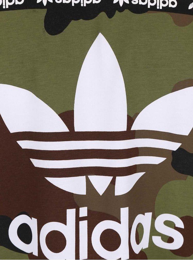 Tricou alb Adidas Originals Camo cu print
