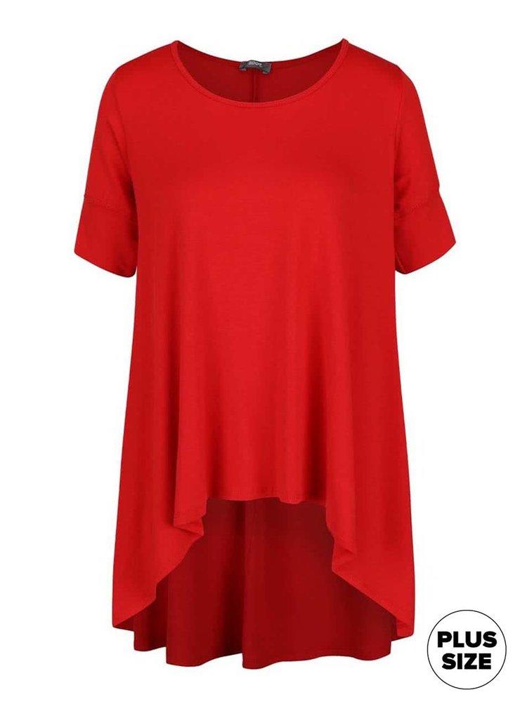 Tricou roșu oversized ZOOT simple cu tiv asimetric