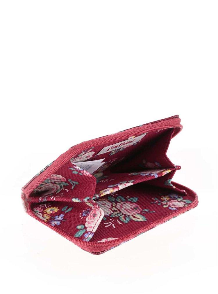 Červená miniaturní peněženka na zip s květinovým motivem Cath Kidston
