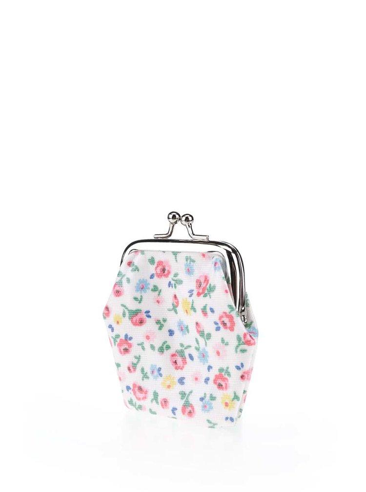 Krémová malá peněženka s květinovým motivem Cath Kidston