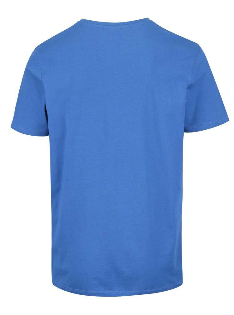 Modré tričko s potlačou Jack & Jones Denim