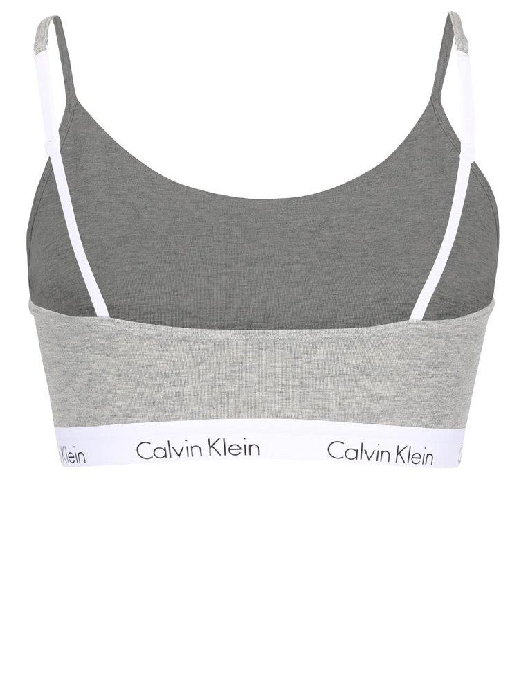 Šedá sportovní podprsenka Calvin Klein