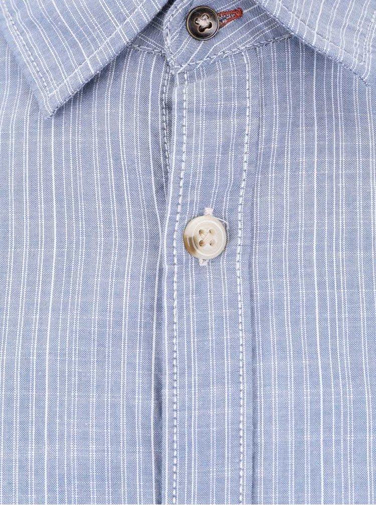 Světle modrá slim košile s proužky Jack & Jones Harrison