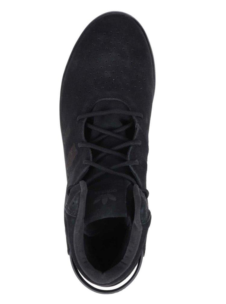 Černé pánské semišové tenisky adidas Originals Tubular Invader