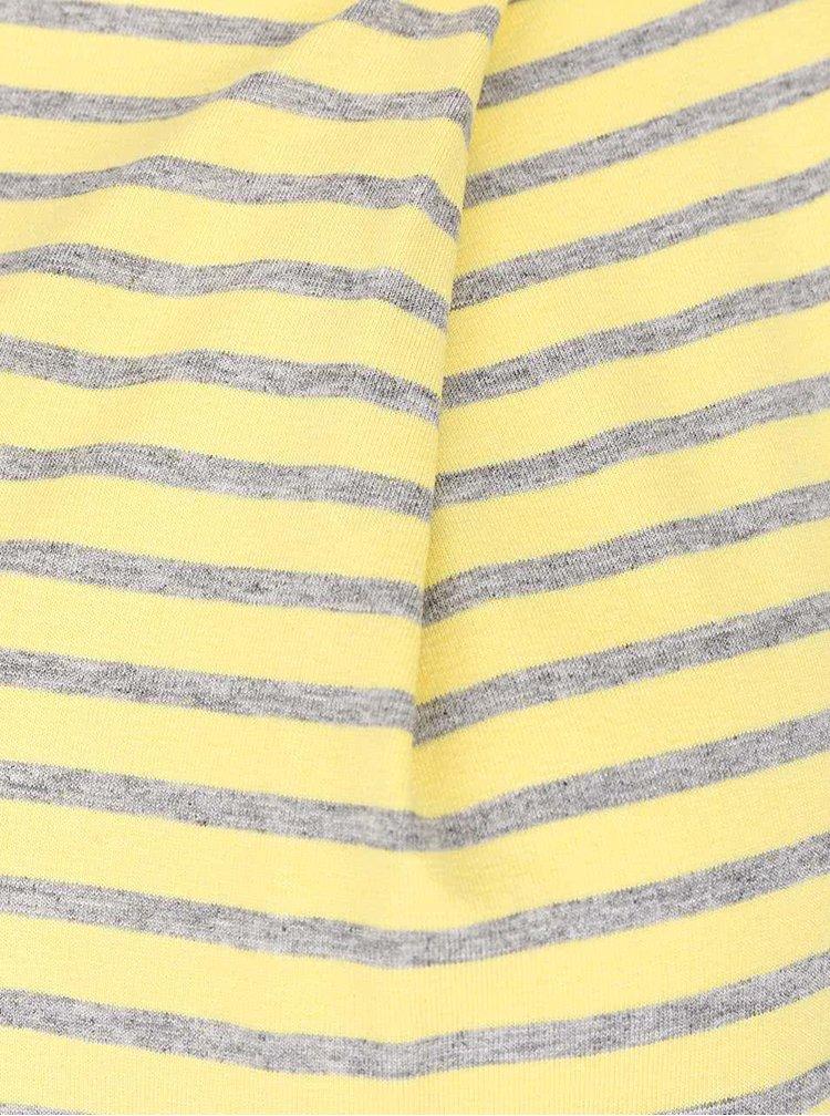 Tricou gri cu galben în dungi ZOOT