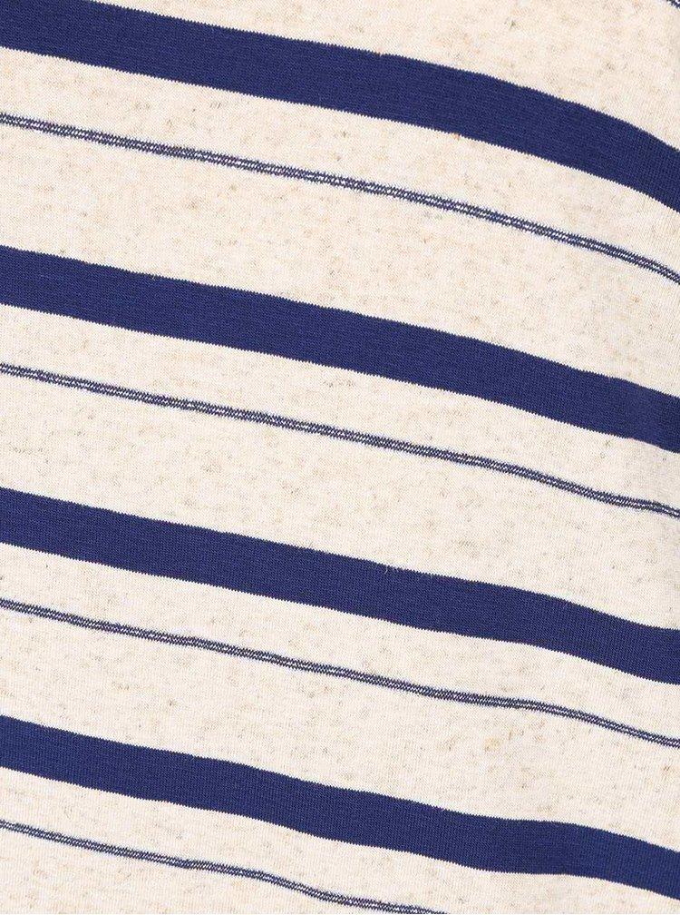 Bluză crem cu albastru ZOOT cu model în dungi