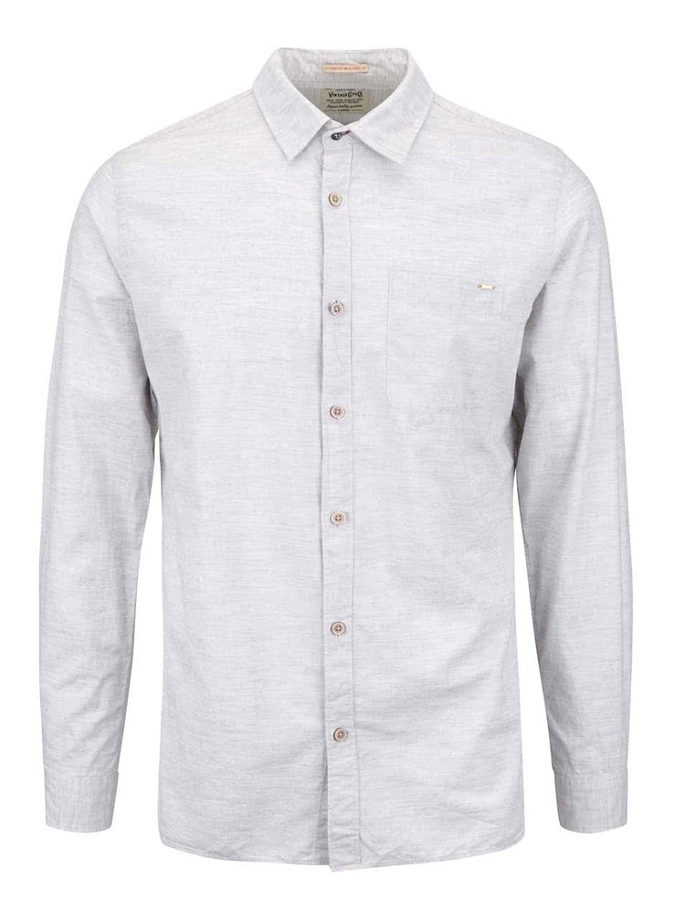 Sivá melírovaná slim košeľa Jack & Jones Harrison