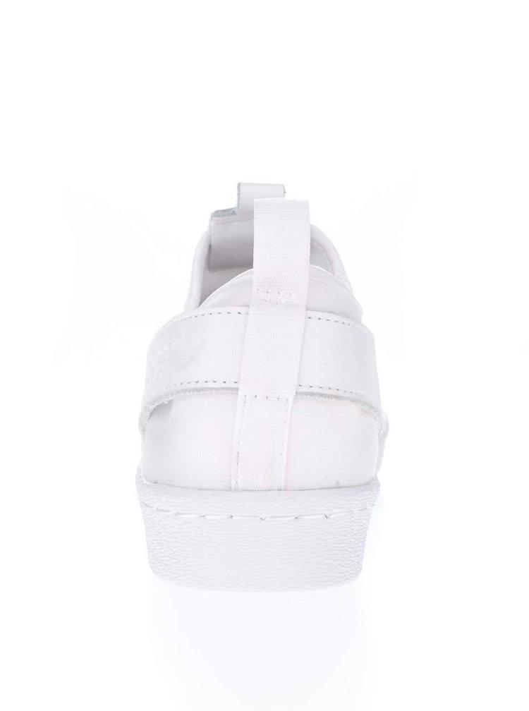 Bílé unisex slip on tenisky adidas Originals Superstar