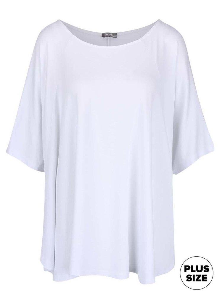 Biele dámske voľnejšie tričko s netopierími rukávmi ZOOT simple
