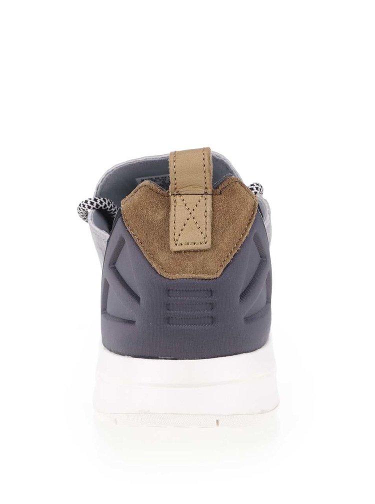 Šedé pánské kožené tenisky adidas Originals ZX Flux Adv X