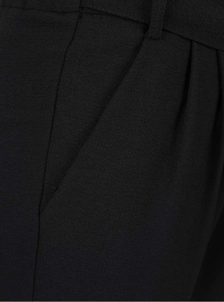 Čierne nohavice so zaväzovaním ONLY Rita
