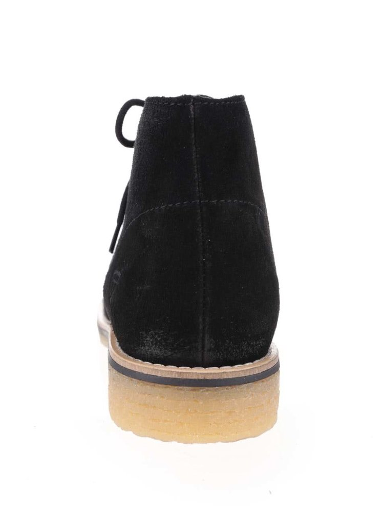 Čierne semišové členkové topánky Tamaris