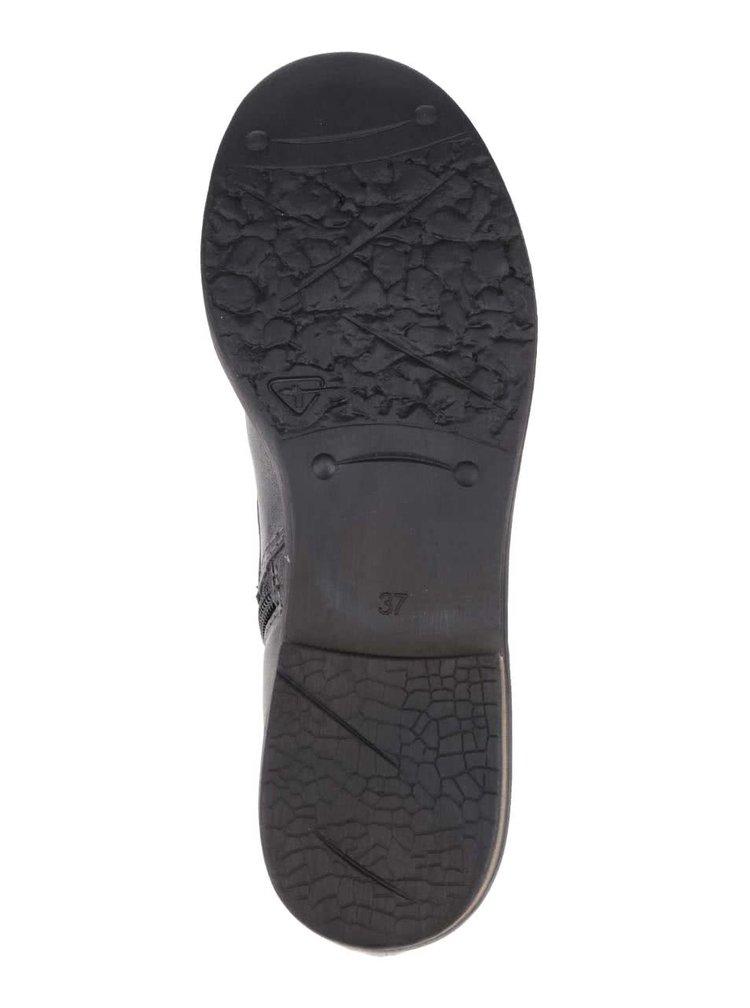 Šedé kotníkové boty se zipem Tamaris