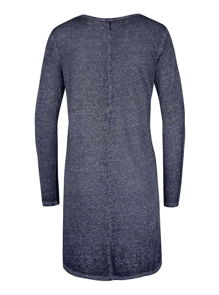 Tmavě modré delší žíhané tričko s dlouhým rukávem ONLY Lucca