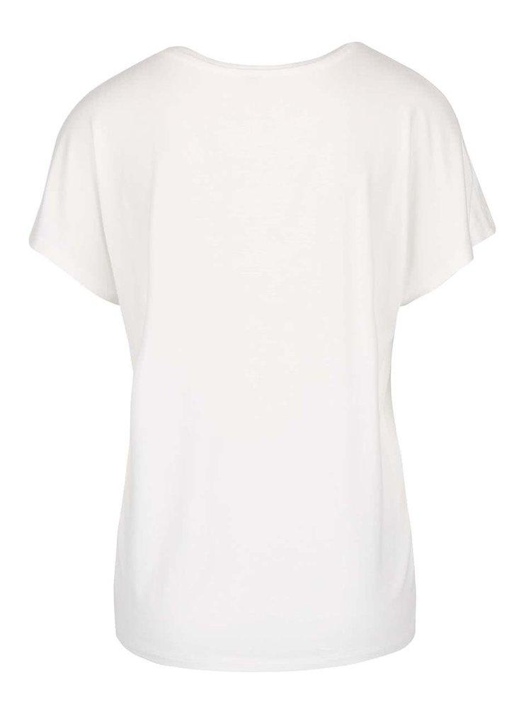 Krémové tričko s flitrami ONLY Sally