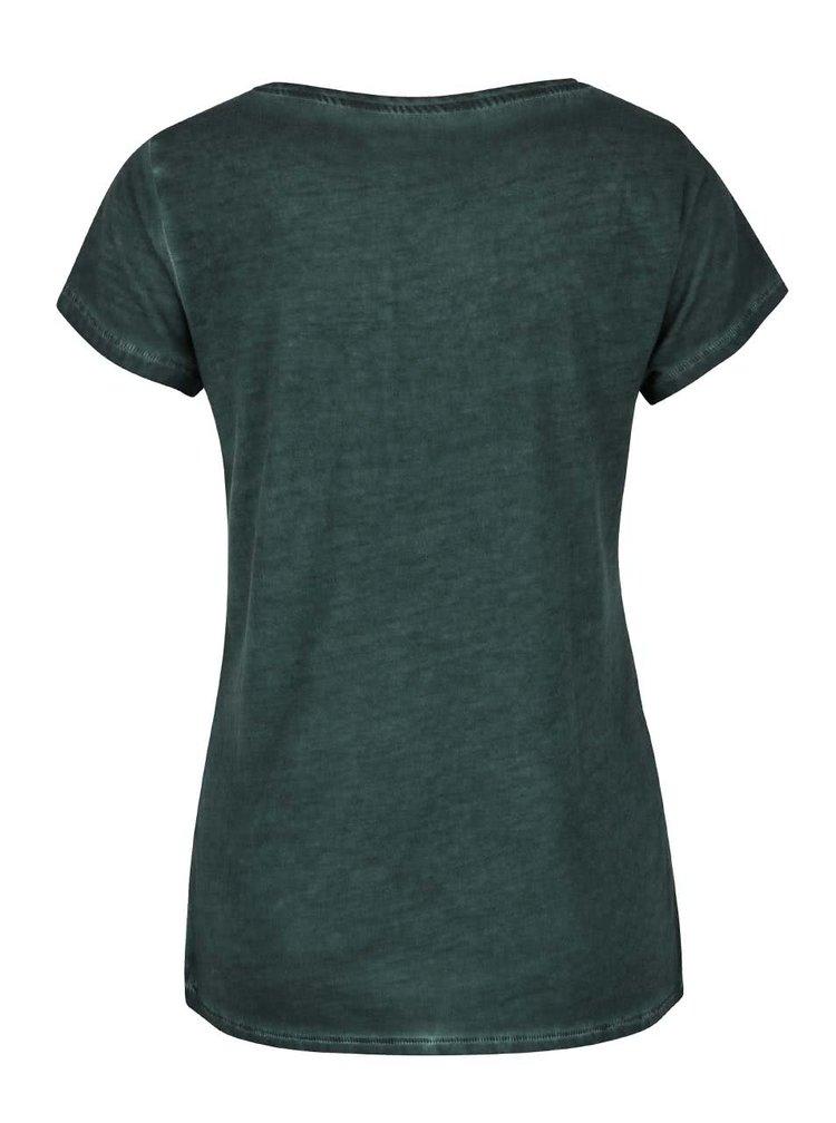 Tricou verde închis ONLY Hero cu aplicație