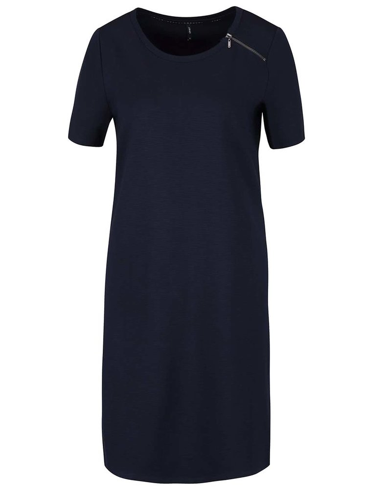 Tmavě modré šaty s ozdobným zipem ONLY Nadia