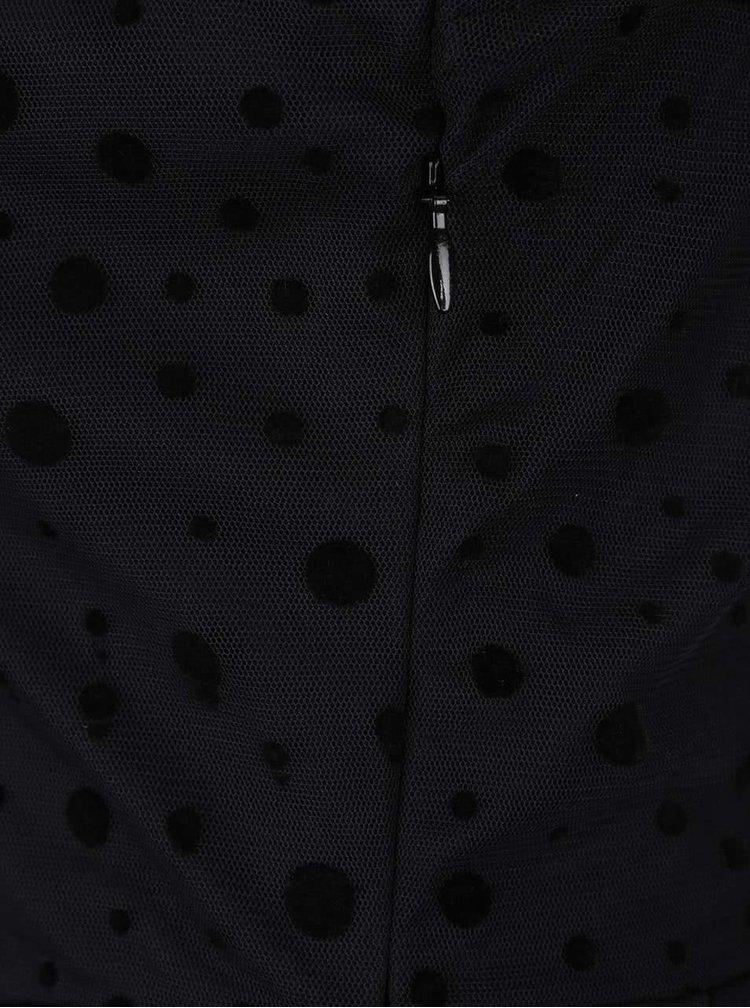 Čierne šaty s bodkami ONLY Lajka