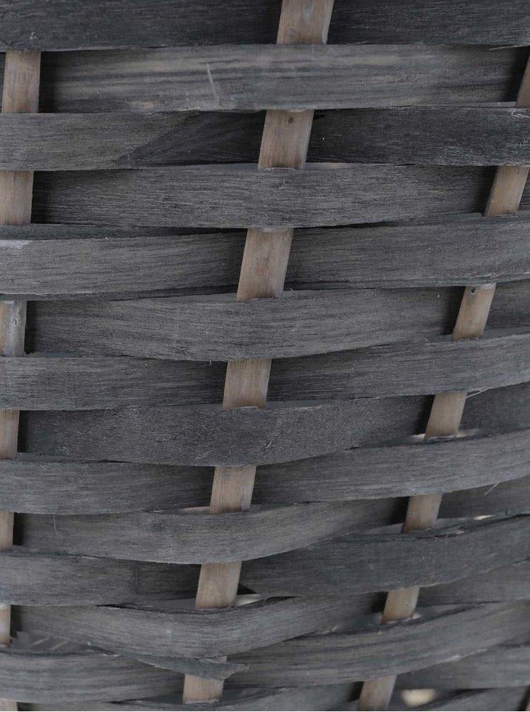 Šedý ratanový obal na květináč Dakls