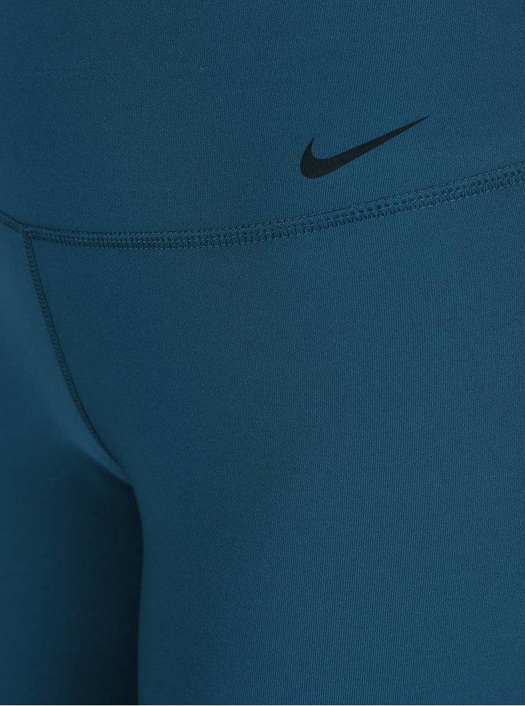 Petrolejové dámské legíny Nike Legend