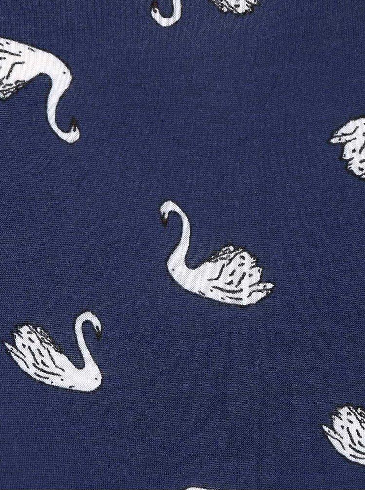 Tmavě modré tričko s potiskem labutí Dorothy Perkins