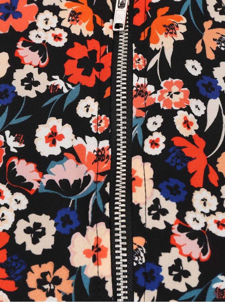 Krémovo-černý bomber s květovaným vzorem Dorothy Perkins