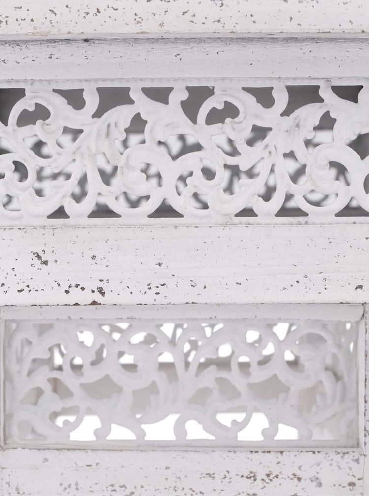 Dva krémové dřevěné stojany na květiny Dakls