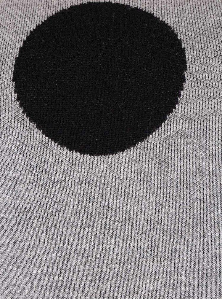Bluză gri deschis cu buline ONLY Harlow