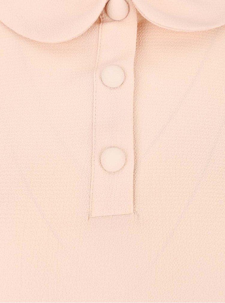 Bluză roz prăfuit Dorothy Perkins cu guler Peter Pan